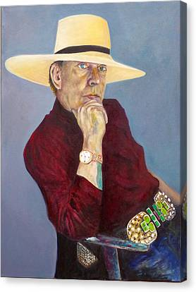 Toller Cranston With Hat Canvas Print by Andrew Osta