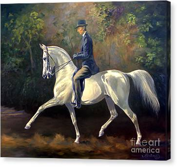 Tom Bass And Columbus Canvas Print by Jeanne Newton Schoborg