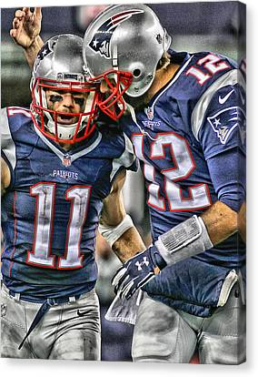 Tom Brady Art 1 Canvas Print by Joe Hamilton