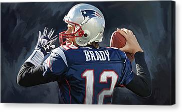 Tom Brady Artwork Canvas Print by Sheraz A