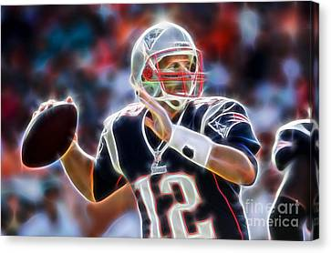 Tom Brady Collection Canvas Print by Marvin Blaine
