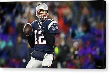 Tom Brady, Number 12, New England Patriots Canvas Print