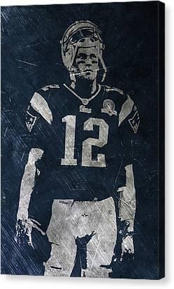 Tom Brady Patriots 4 Canvas Print