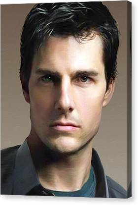 Tom Cruise Canvas Print by Dominique Amendola