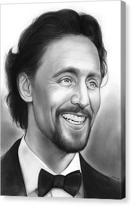 Tom Hiddleston Canvas Print by Greg Joens