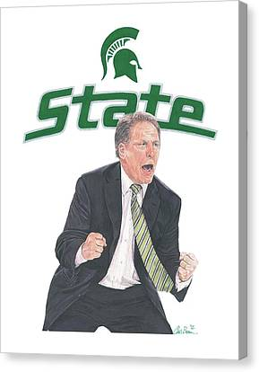 Tom Izzo Canvas Print by Chris Brown
