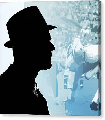 Coach Canvas Print - Tom Landry by Greg Joens
