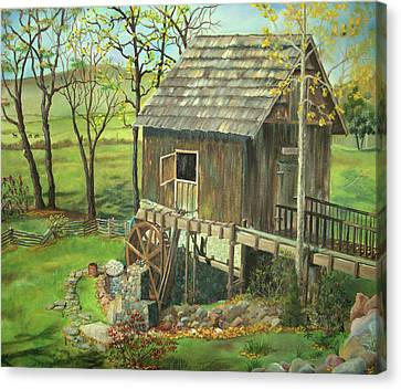 Tom Lott's Mill In Georgia Canvas Print