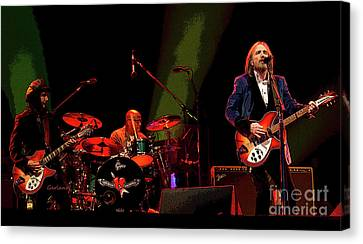 Heartbreaker Canvas Print - Tom Petty In Concert by Garland Johnson