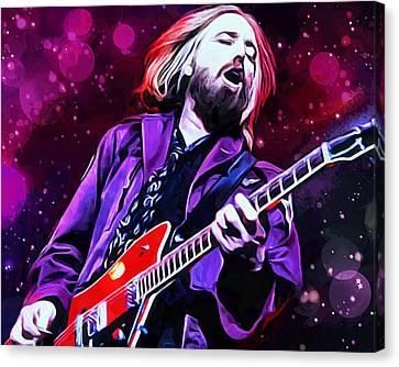 Heartbreaker Canvas Print - Tom Petty Painting by Scott Wallace