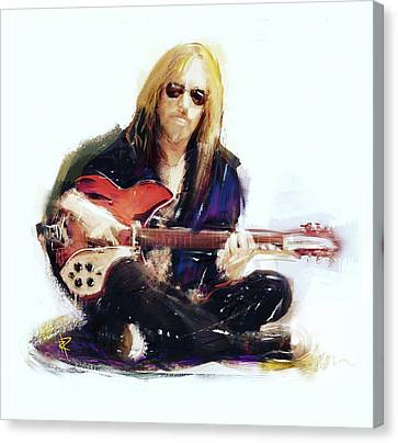 Roll Canvas Print - Tom Petty by Russell Pierce