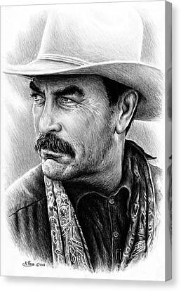 Tom Selleck Canvas Print by Andrew Read