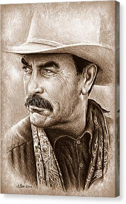 Tom Selleck The Western Collection Canvas Print