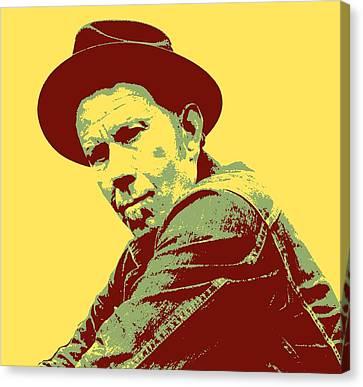 Avant Garde Jazz Canvas Print - Tom Waits Pop Art by Dan Sproul