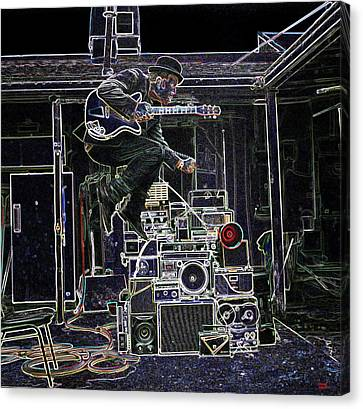 Tom Waits Jamming Canvas Print