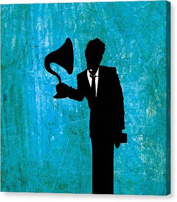 Illustrator Canvas Print - Tom Waits by Janina Aberg