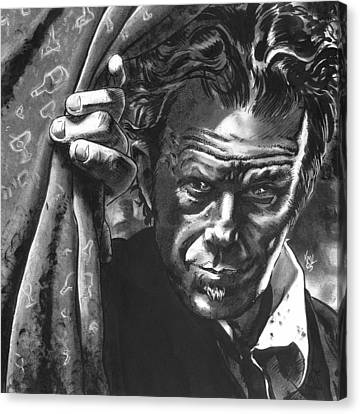 Tom Waits Canvas Print by Ken Meyer
