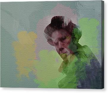 Tom Waits Canvas Print by Naxart Studio