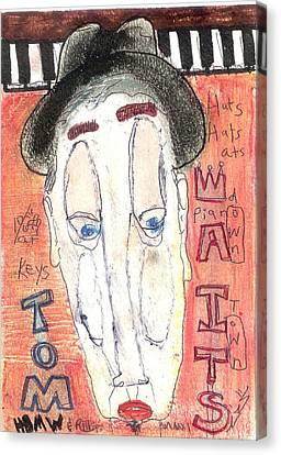 Tom Waits Canvas Print by Robert Wolverton Jr