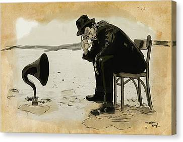 Tom Waits Canvas Print by Sean King