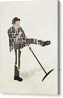 Canvas Print featuring the digital art Tom Waits Typography Art by Inspirowl Design