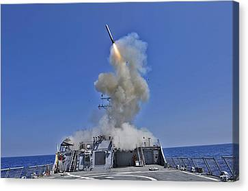 Tomahawk Cruise Missile Launched Canvas Print by Everett