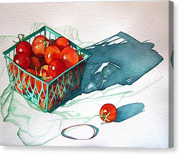 Tomato Basket Canvas Print by Gail Zavala
