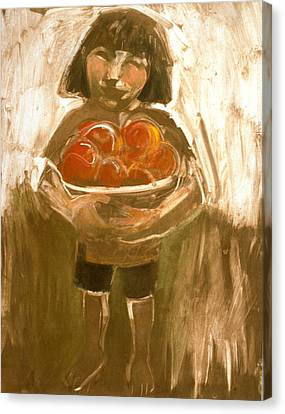 Tomato Girl Canvas Print