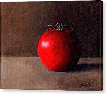 Tomato Still Life 1 Canvas Print by Janet King