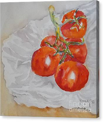 Tomatoes Canvas Print by Linda Rupard