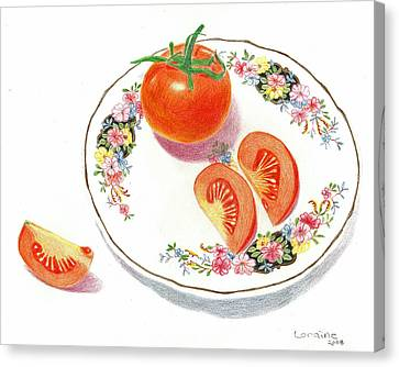 Tomatoes Canvas Print by Loraine LeBlanc