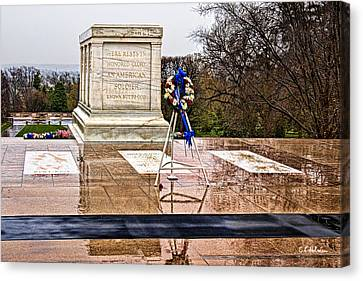 Tomb Of The Unknown Soldiers Canvas Print by Christopher Holmes