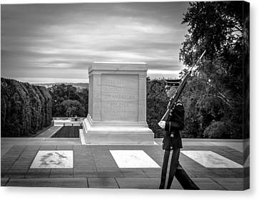 Canvas Print featuring the photograph Tomb Of The Unknown Solider by David Morefield