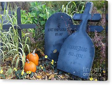 Rememberance Canvas Print - Tombes // Halloween // Gravestones by Dominique Fortier