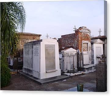 Tombs In St. Louis Cemetery Canvas Print by Alys Caviness-Gober