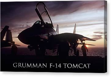 Aircraft Carrier Canvas Print - Tomcat Sunset by Peter Chilelli
