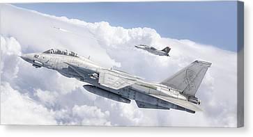 Aviationart Canvas Print - Tomcats Fox Two by Antonis Karidis
