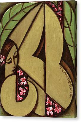 Tommervik Abstract Hawaiian Woman Art Print  Canvas Print by Tommervik