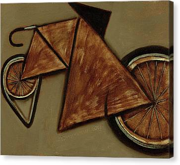 Canvas Print featuring the painting Tommervik Art Bicycle Bike Art Print by Tommervik