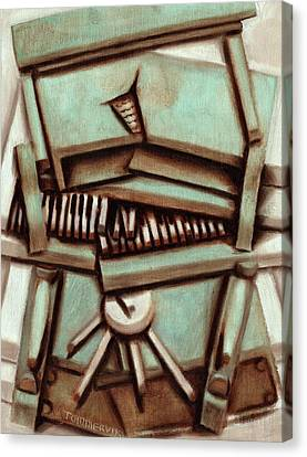 Piano Canvas Print - Tommervik Broken Piano  by Tommervik
