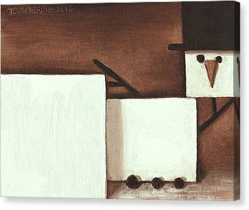 Canvas Print featuring the painting Tommervik Classical Nude Snowman Art Print by Tommervik