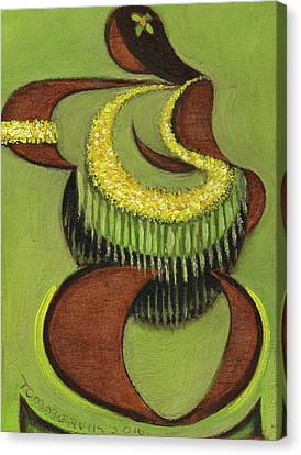 Canvas Print featuring the painting Tommervik Hula Dancer Hawaii Art Print by Tommervik