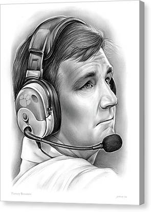 Tommy Bowden Canvas Print by Greg Joens