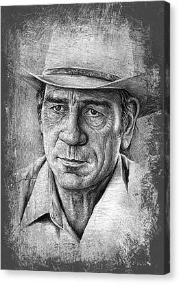 Tommy Lee Jones Canvas Print by Andrew Read