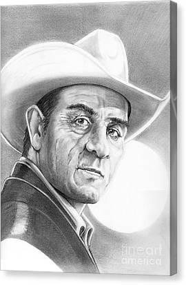 Tommy Lee Jones Canvas Print by Murphy Elliott
