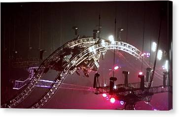 Tommy Lee Motley Crue Farewell Tour Brooklyn N Y 2015 Or Flying Drums Canvas Print by Rob Hans
