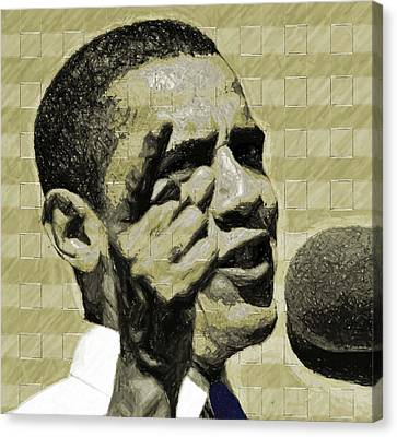Barack Obama Canvas Print - Tomorrows Hope by LeeAnn Alexander