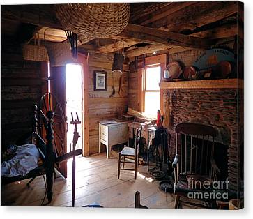 Tom's Old Fashion Cabin Canvas Print