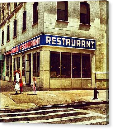 Food And Beverage Canvas Print - Tom's Restaurant. #seinfeld by Luke Kingma