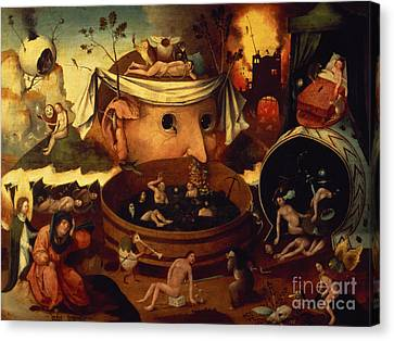 Tondals Vision Canvas Print by Hieronymus Bosch